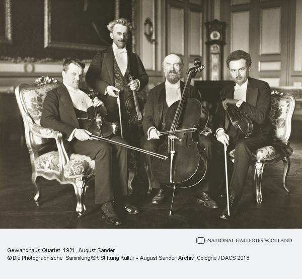 August Sander, Gewandhaus Quartet, 1921 (1921)