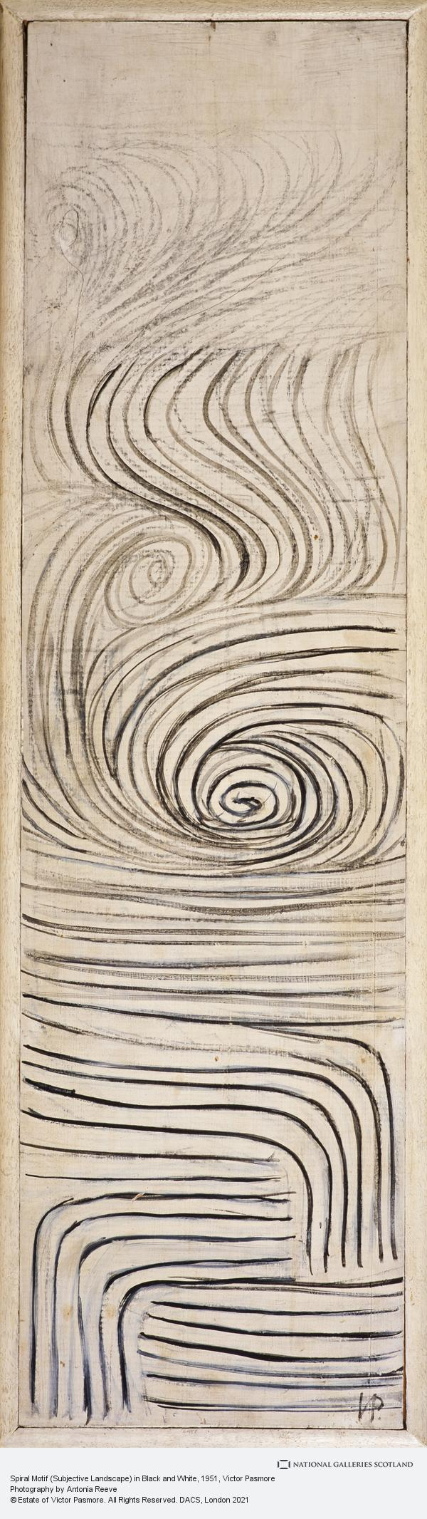 Victor Pasmore, Spiral Motif (Subjective Landscape) in Black and White