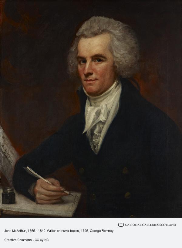 George Romney, John McArthur, 1755 - 1840. Writer on naval topics