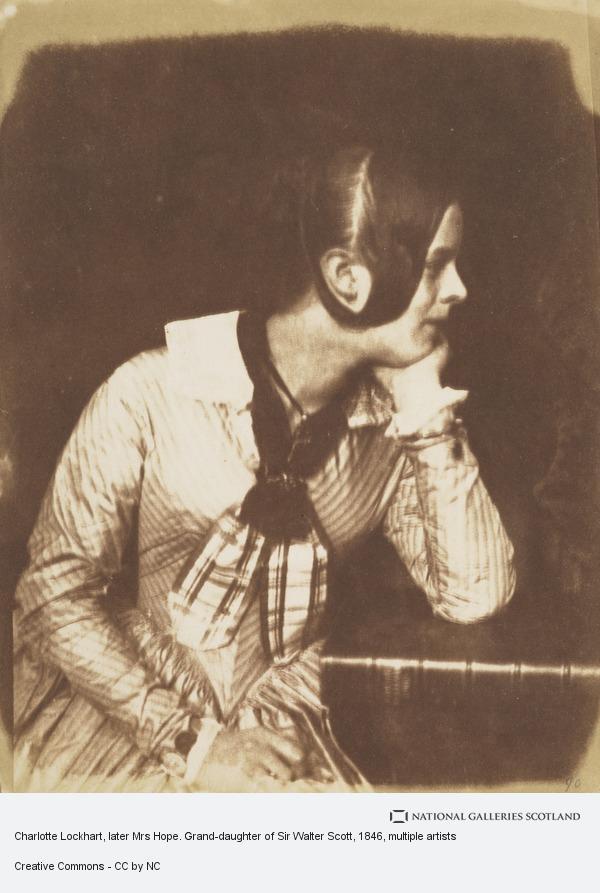David Octavius Hill, Charlotte Lockhart, later Mrs Hope. Grand-daughter of Sir Walter Scott (About 1846)