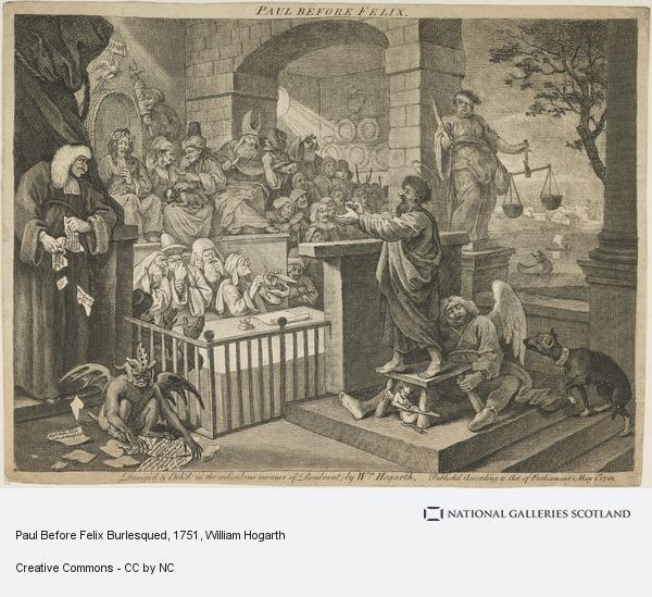 William Hogarth, Paul Before Felix Burlesqued