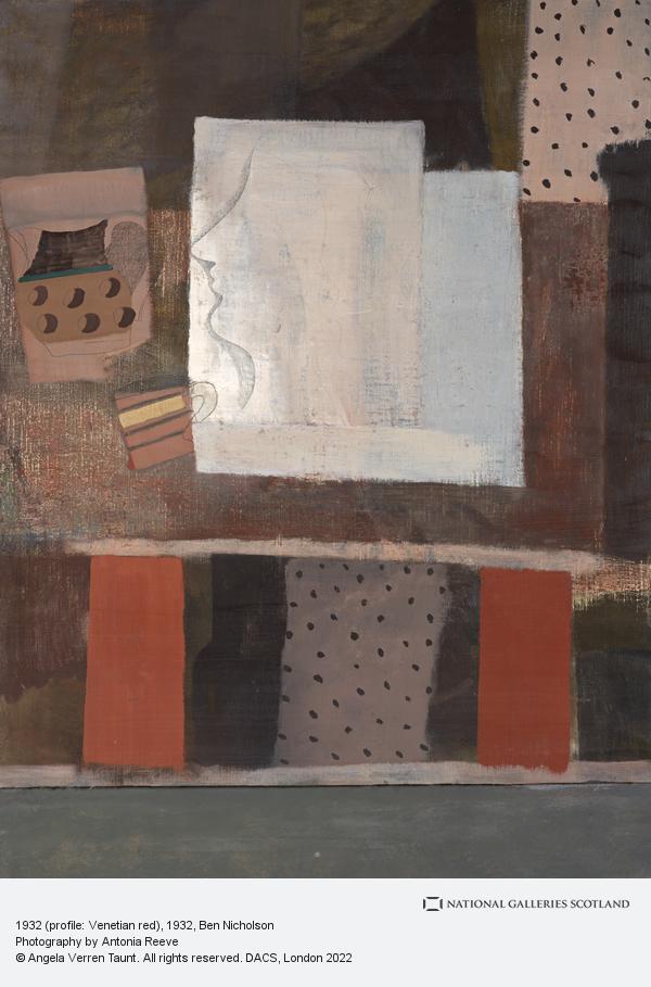 Ben Nicholson, 1932 (profile: Venetian red)