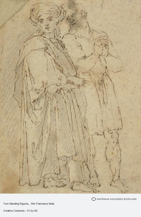 Pier Francesco Mola, Two Standing Figures