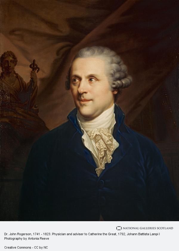 Johann Battista Lampi I, Dr. John Rogerson, 1740 - 1828. Physician and adviser to Catherine the Great