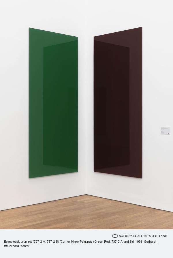 Gerhard Richter, Eckspiegel, grun-rot (727-2 A, 737-2 B) [Corner Mirror Paintings (Green-Red, 737-2 A and B)] (1991)