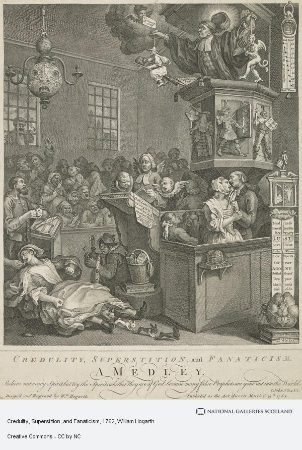 William Hogarth, Credulity, Superstition, and Fanaticism