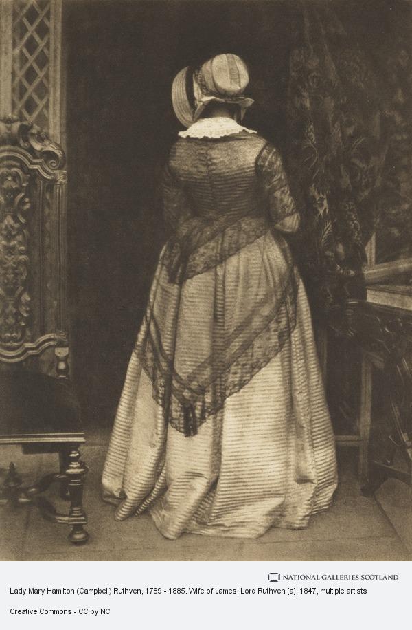 David Octavius Hill, Lady Mary Hamilton (Campbell) Ruthven, 1789 - 1885. Wife of James, Lord Ruthven [a]