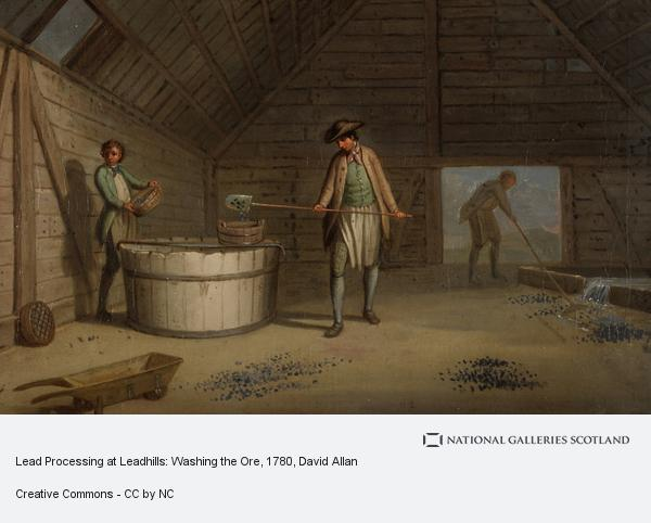 David Allan, Lead Processing at Leadhills: Washing the Ore (Probably 1780s)