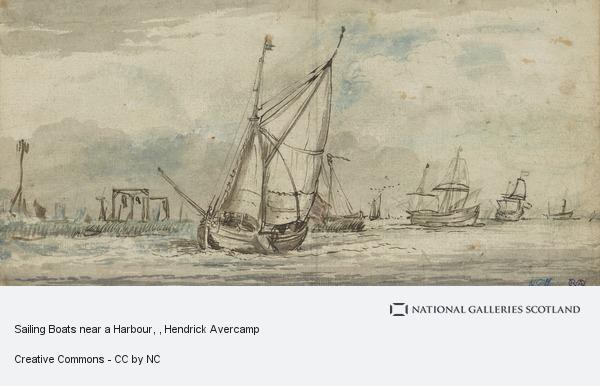 Hendrick Avercamp, Sailing Boats near a Harbour