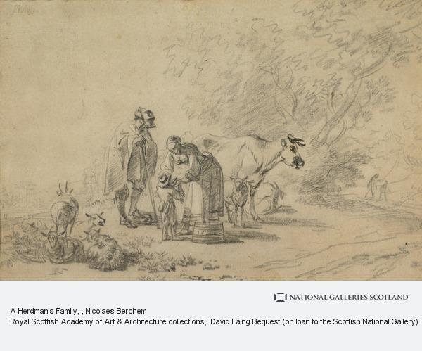 Nicolaes Berchem, A Herdman's Family