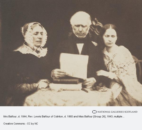 Robert Adamson, Mrs Balfour, d. 1844, Rev. Lewis Balfour of Colinton, d. 1860 and Miss Balfour [Group 26]