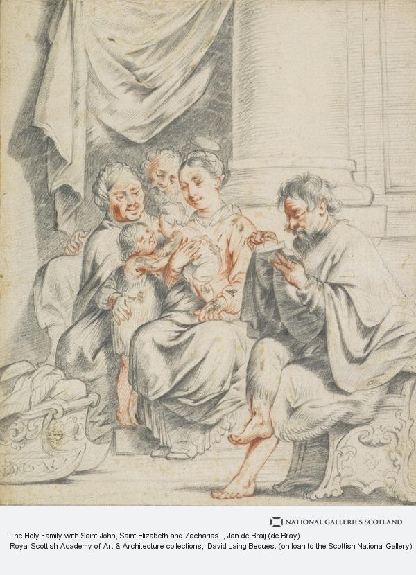 Jan de Braij (de Bray), The Holy Family with Saint John, Saint Elizabeth and Zacharias