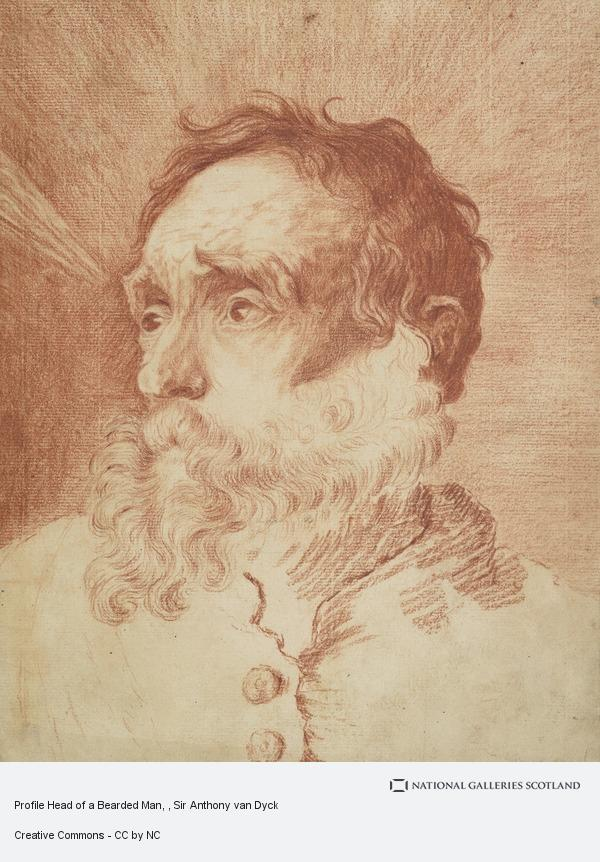 Sir Anthony van Dyck, Profile Head of a Bearded Man