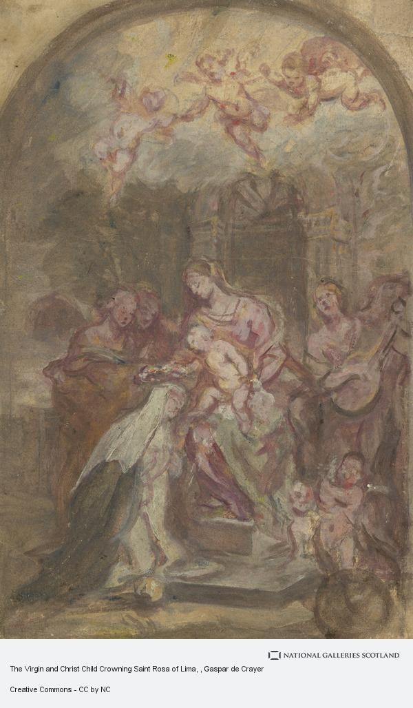 Gaspar de Crayer, The Virgin and Christ Child Crowning Saint Rosa of Lima