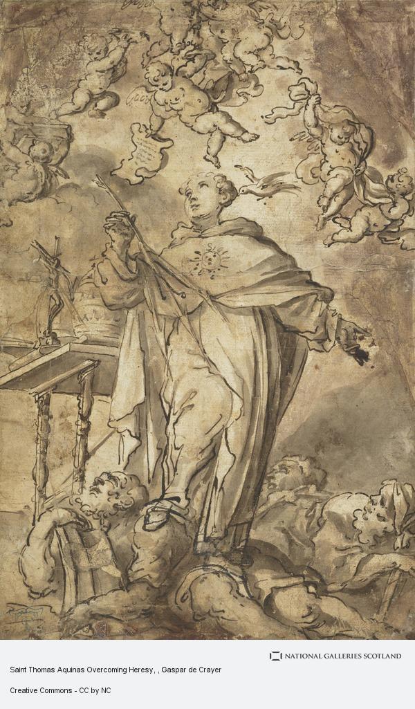 Gaspar de Crayer, Saint Thomas Aquinas Overcoming Heresy