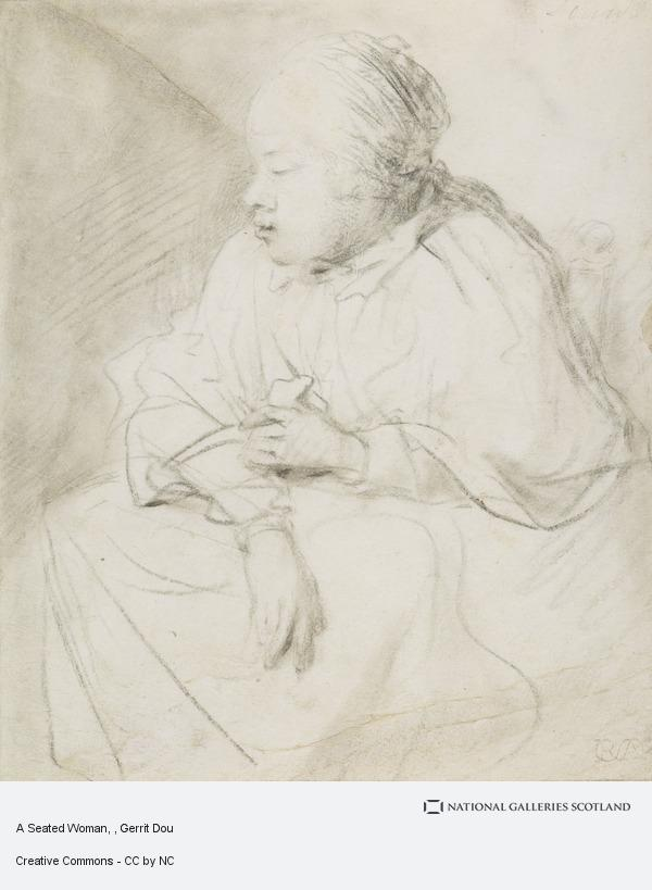 Gerrit Dou, A Seated Woman