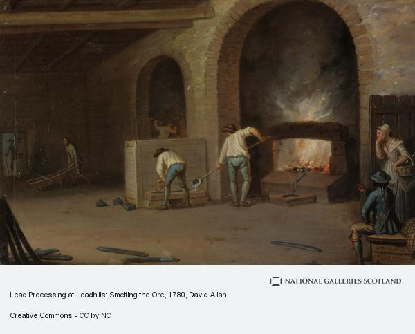 David Allan, Lead Processing at Leadhills: Smelting the Ore (Probably 1780s)