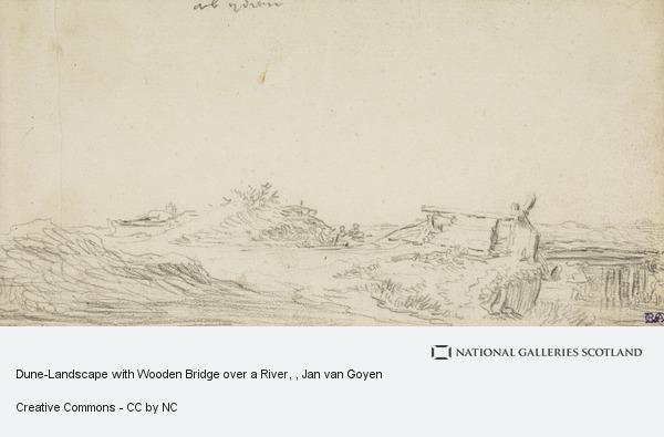 Jan van Goyen, Dune-Landscape with Wooden Bridge over a River