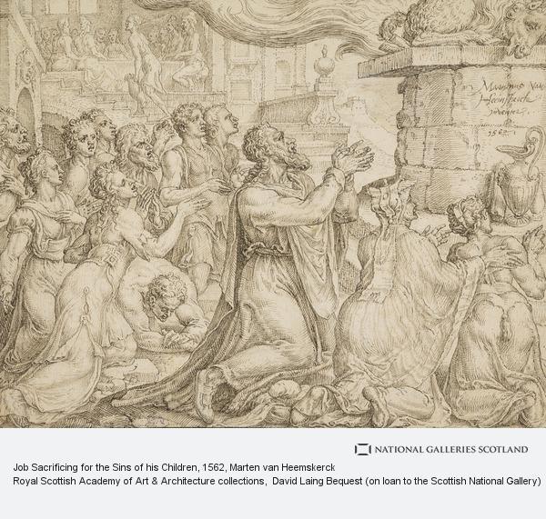 Marten van Heemskerck, Job Sacrificing for the Sins of his Children