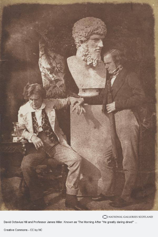 David Octavius Hill, David Octavius Hill and Professor James Miller. Known as 'The Morning After