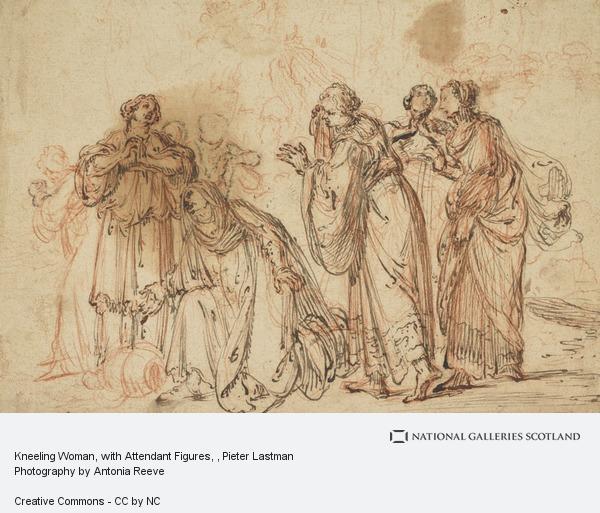 Pieter Lastman, Kneeling Woman, with Attendant Figures