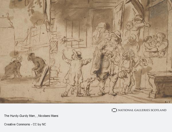 Nicolaes Maes, The Hurdy-Gurdy Man