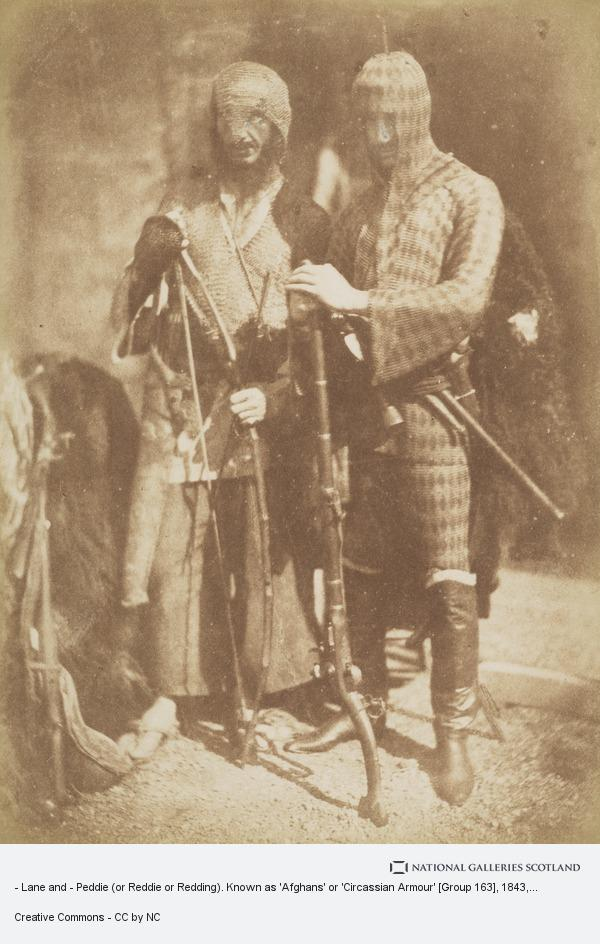 David Octavius Hill, - Lane and - Peddie (or Reddie or Redding). Known as 'Afghans' or 'Circassian Armour' [Group 163]