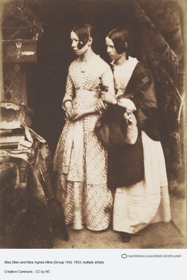 David Octavius Hill, Miss Ellen and Miss Agnes Milne [Group 194]