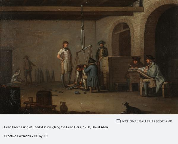David Allan, Lead Processing at Leadhills: Weighing the Lead Bars (Probably 1780s)