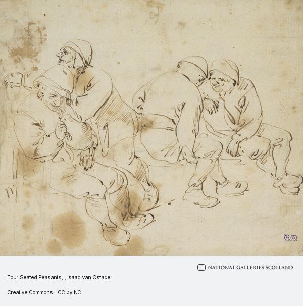 Isaac van Ostade, Four Seated Peasants