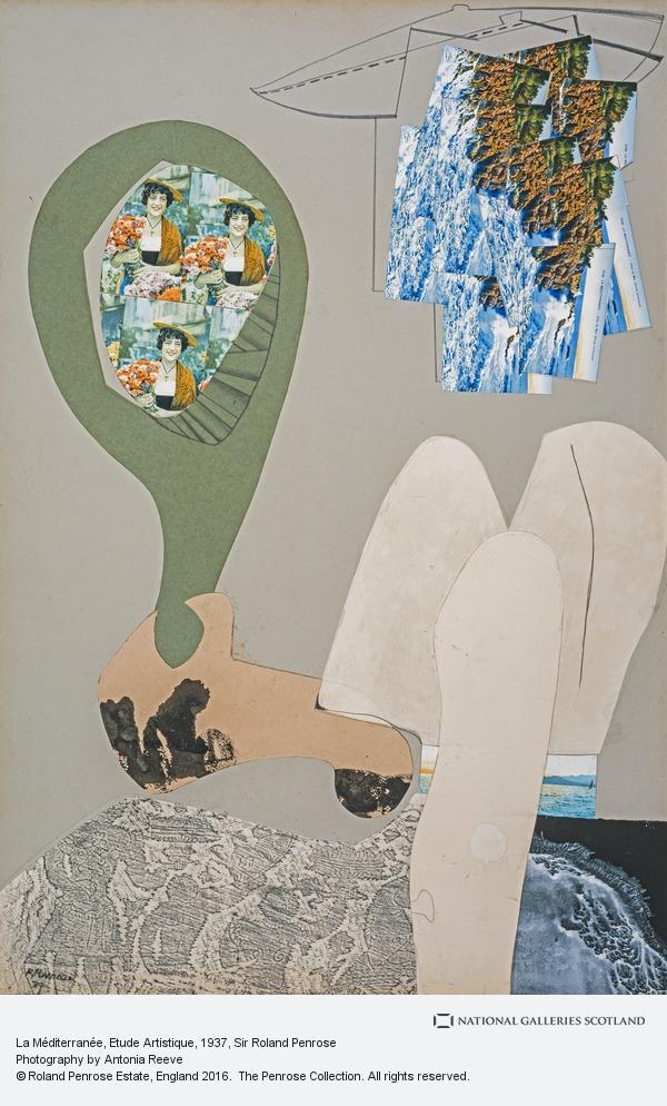 Sir Roland Penrose, La Méditerranée, Etude Artistique