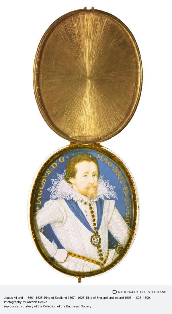 Nicholas Hilliard, James VI and I, 1566 - 1625. King of Scotland 1567 - 1625. King of England and Ireland 1603 - 1625
