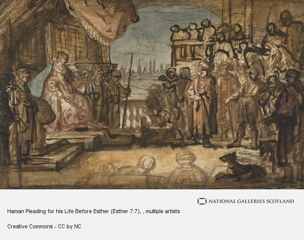Constantijn Daniel van Renesse, Haman Pleading for his Life Before Esther (Esther 7:7)