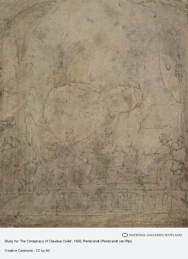 Rembrandt (Rembrandt Harmensz van Rijn), Study for 'The Conspiracy of Claudius Civilis'
