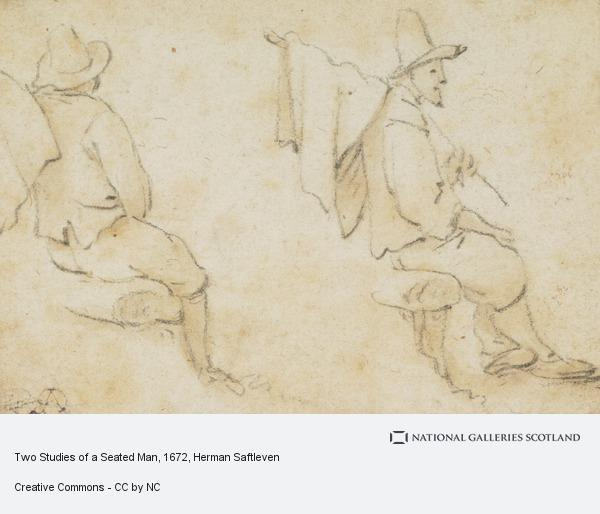 Herman Saftleven, Two Studies of a Seated Man