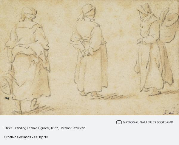 Herman Saftleven, Three Standing Female Figures