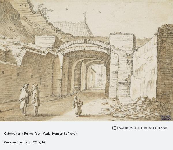 Herman Saftleven, Gateway and Ruined Town Wall