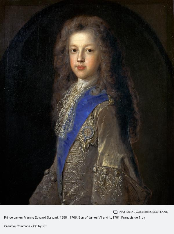 Francois de Troy, Prince James Francis Edward Stuart, 1688 - 1766. Son of James VII and II (1701)
