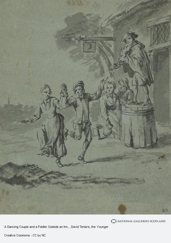 David Teniers, A Dancing Couple and a Fiddler Outside an Inn