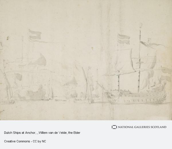 Willem van de Velde, the Elder, Dutch Ships at Anchor