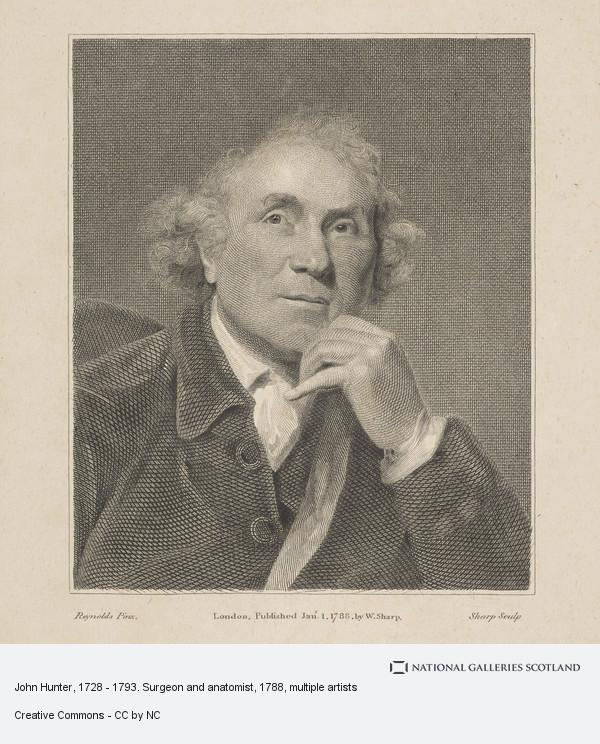 William Sharp, John Hunter, 1728 - 1793. Surgeon and anatomist