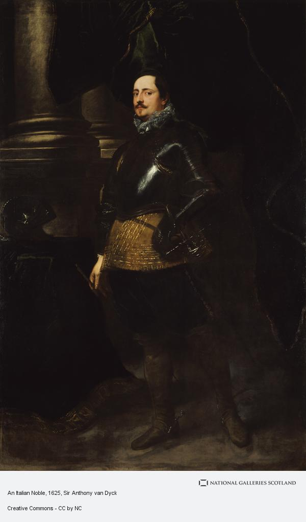 Sir Anthony van Dyck, An Italian Noble (About 1625 - 1627)