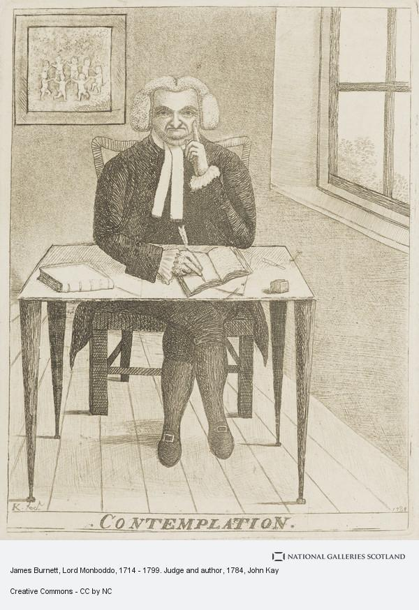 John Kay, James Burnett, Lord Monboddo, 1714 - 1799. Judge and author