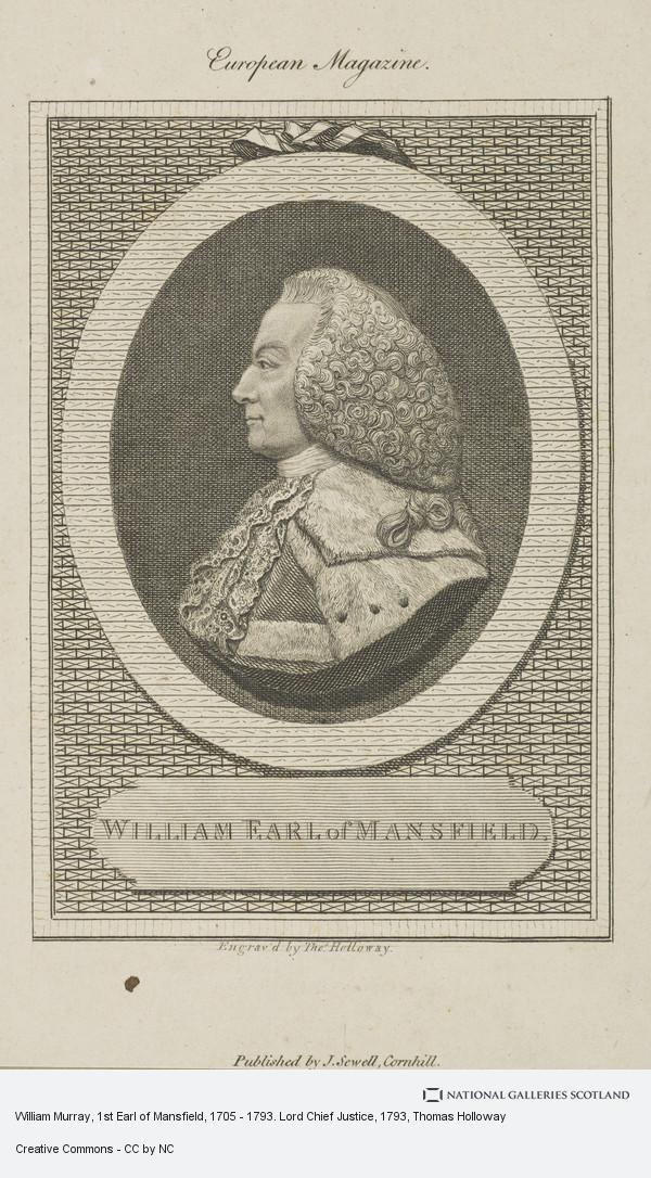Thomas Holloway, William Murray, 1st Earl of Mansfield, 1705 - 1793. Lord Chief Justice