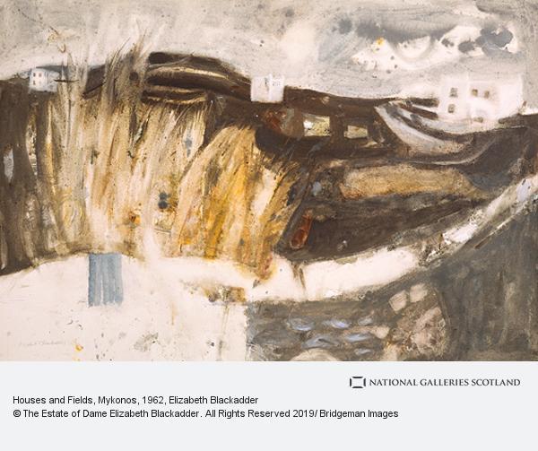 Elizabeth Blackadder, Houses and Fields, Mykonos