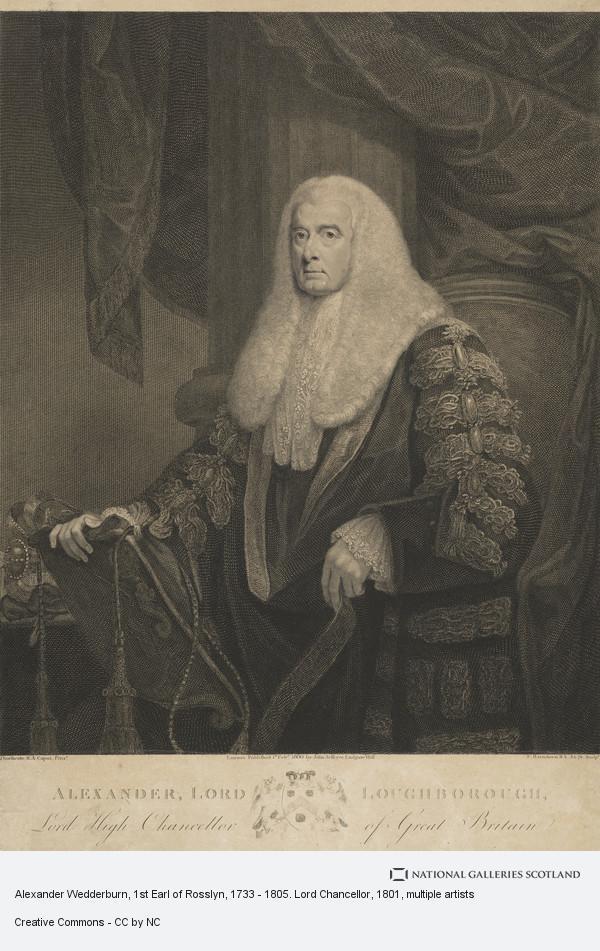 Francesco Bartolozzi, Alexander Wedderburn, 1st Earl of Rosslyn, 1733 - 1805. Lord Chancellor