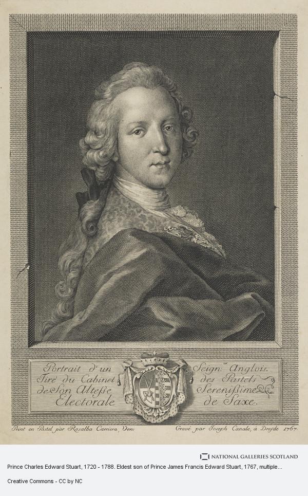 Joseph Canale, Prince Charles Edward Stuart, 1720 - 1788. Eldest son of Prince James Francis Edward Stuart