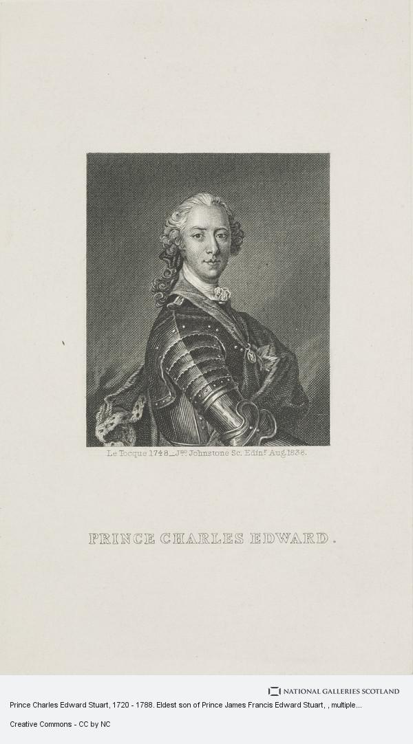 John Johnstone, Prince Charles Edward Stuart, 1720 - 1788. Eldest son of Prince James Francis Edward Stuart