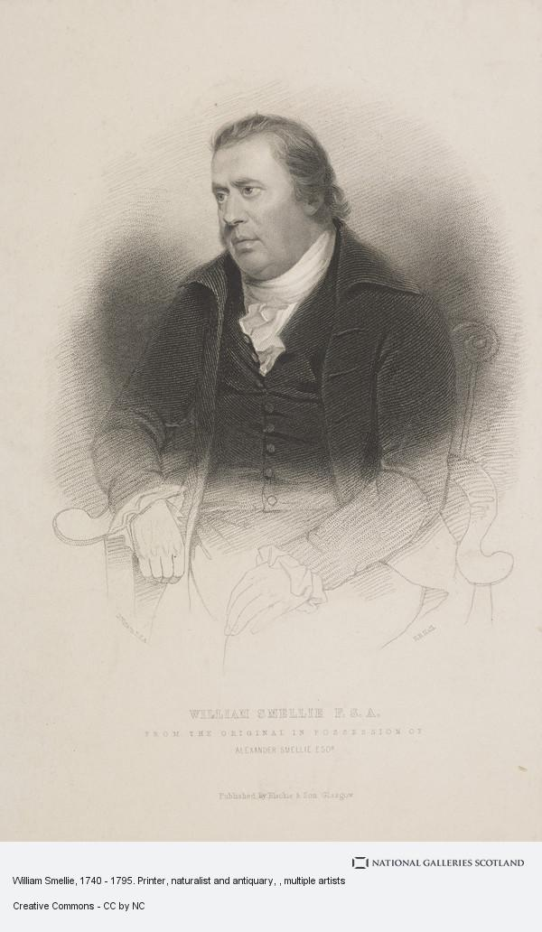 Henry Bryan Hall, William Smellie, 1740 - 1795. Printer, naturalist and antiquary