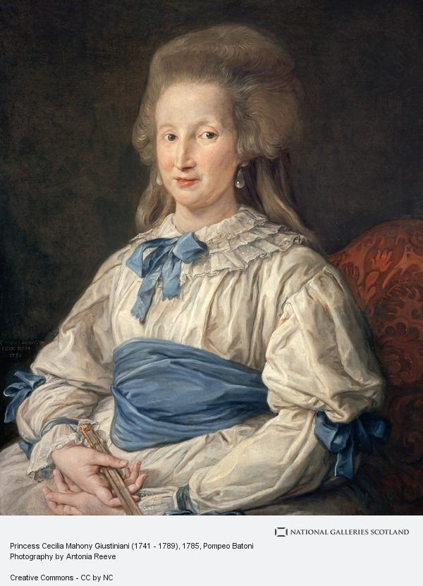 Pompeo Girolamo Batoni, Princess Cecilia Mahony Giustiniani (1741 - 1789)